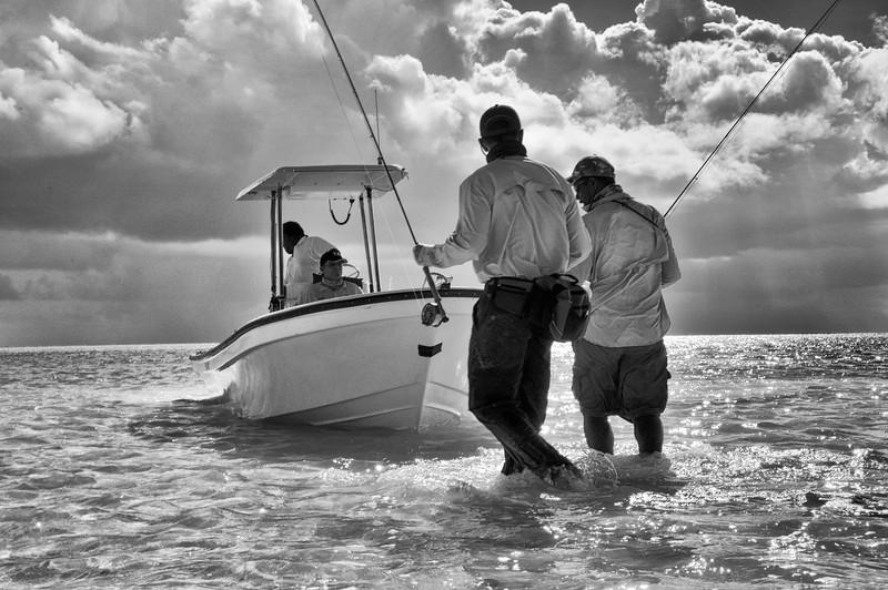 Fishing the flats at Kiribati