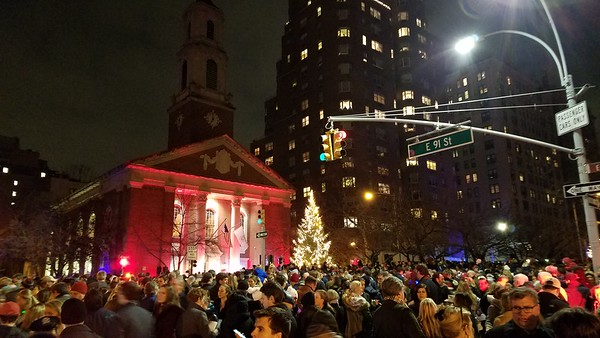 Dec 3, 2017 Park Avenue Tree Lighting Ceremony at Brick Presbyterian Church