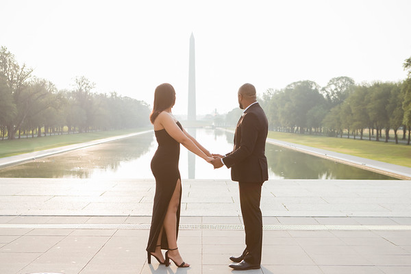 Shanessa and Evan - DC Monuments Engagement