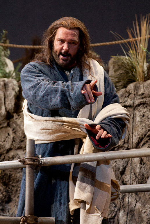 ". Baritone Nathan Gunn portrays Yeshua (Jesus) in San Francisco Opera\'s world premiere of Mark Adamo\'s ""The Gospel of Mary Magdalene,\"" Sunday, June 16, 2013 at the War Memorial Opera House in San Francisco. (D. Ross Cameron/Bay Area News Group)"