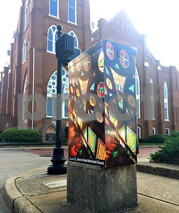 marvin-methodist-church-sponsors-beauty-and-the-box-artwork-at-bois-darc-avenue-and-erwin-street