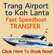 Trang Airport to Koh Lanta Express Transfer