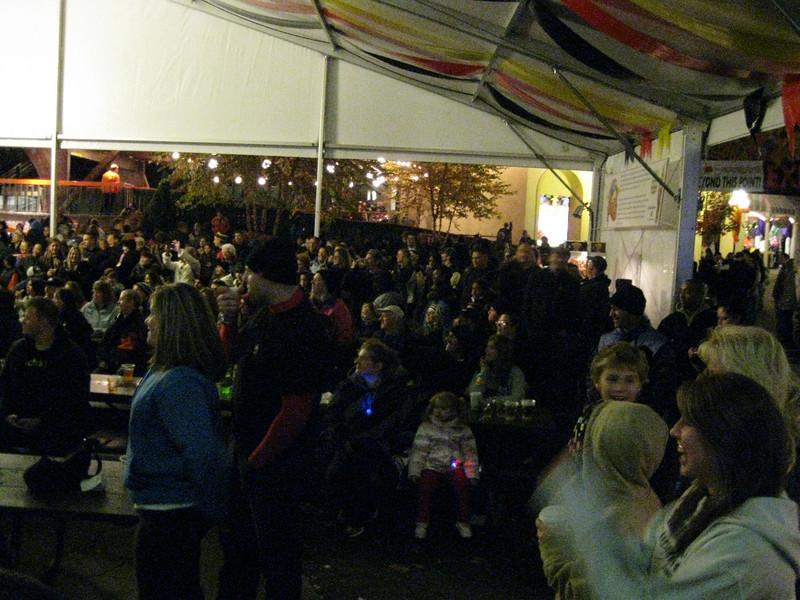 More shots of the Oktoberfest crowd.