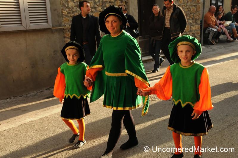 Family Fun at the Parade - Cinigiano, Italy