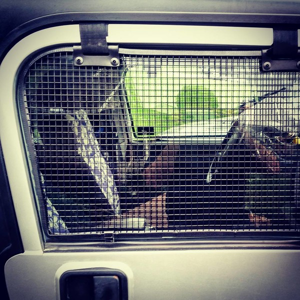 Madmaxing the #jeep with #madmax style #cages custom made by a small pet company #breezeguards