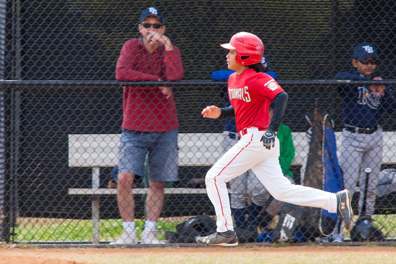 Alex earns a walk in the bottom of the 3rd inning. The Nationals almost blew a big lead, but managed to hold off the Rays to win 9-7. They are now 4-2 for the season. 2012 Arlington Little League Baseball, Majors Division. Nationals vs Rays (28 Apr 2012) (Image taken by Patrick R. Kane on 28 Apr 2012 with Canon EOS-1D Mark III at ISO 400, f6.3, 1/400 sec and 420mm)