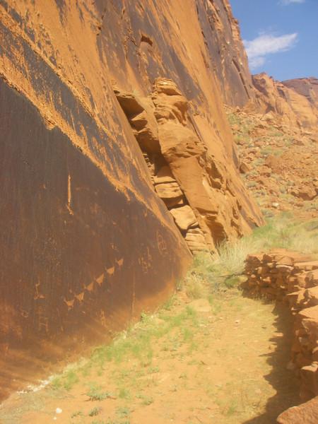 Ancient petroglyphs left by Ancestral Puebloan people…