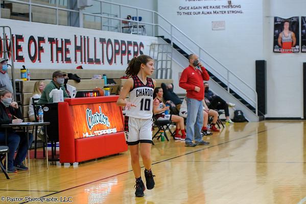 Girls Basketball JV Action