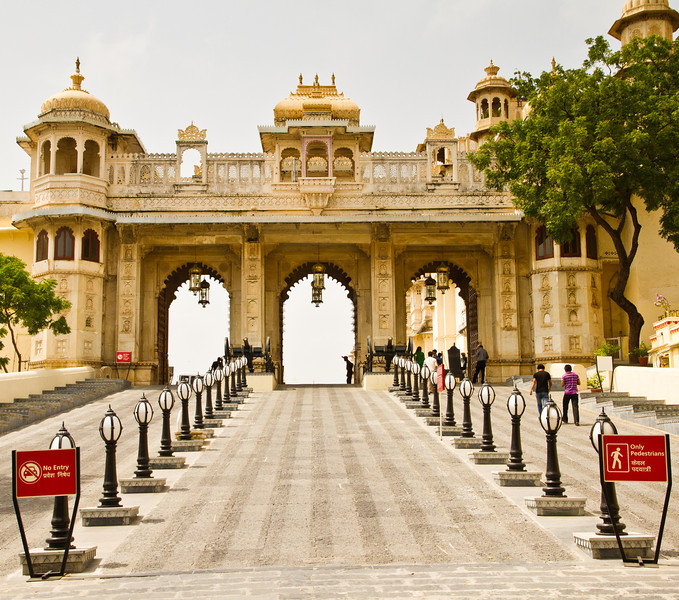 """Tripolia"" - Three gate - gate. Udaipur city palace."