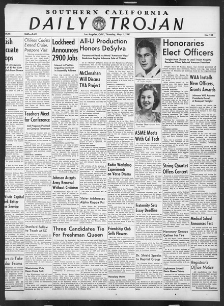 Daily Trojan, Vol. 32, No. 132, May 01, 1941