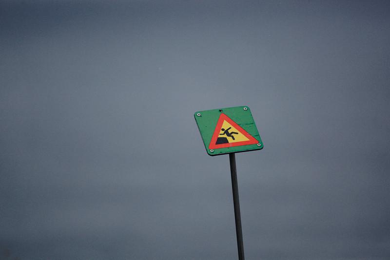 Danger of falling!