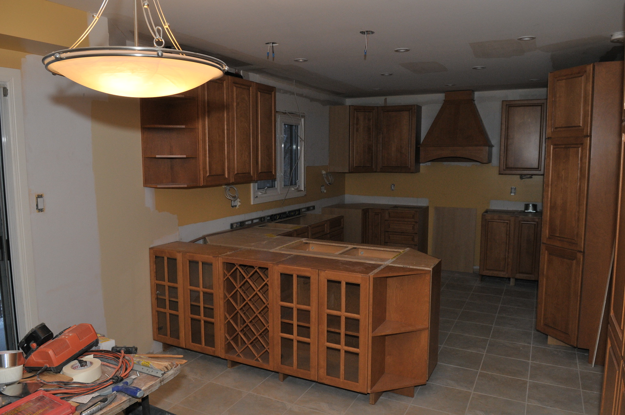 New cabinets in place.