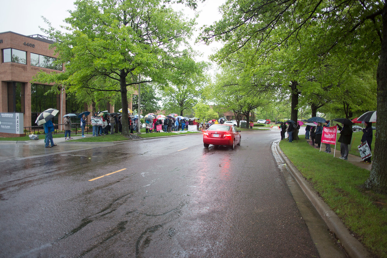 Abortion rally at Planned Parenthood in Leawood, KS 4/29/17