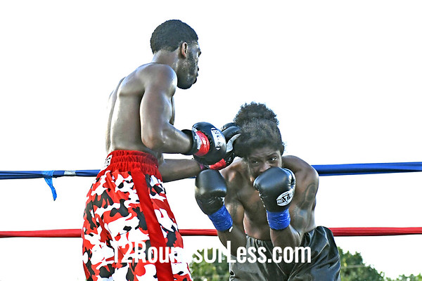 Bout 1 Fred Wilson, Red Wrist-Wraps, Cleveland -vs- Rakin Johnson, Blue Wrist-Wraps, Indianapolis, IN, 160 Lbs
