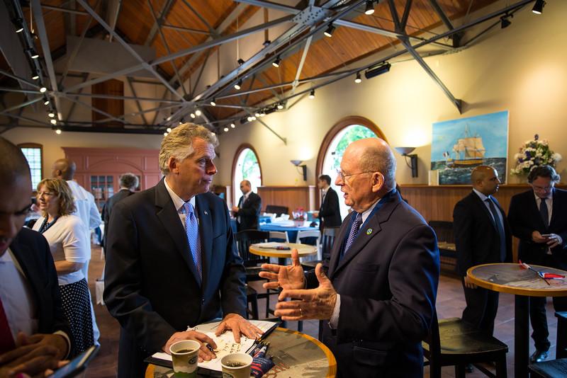 Candid Chairman Shepard and Governor McAullife.jpg