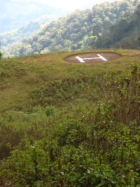 Just below the base we hit-upon this helipad