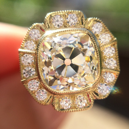 """The  """"Caroline"""" Halo in Yellow Gold"""