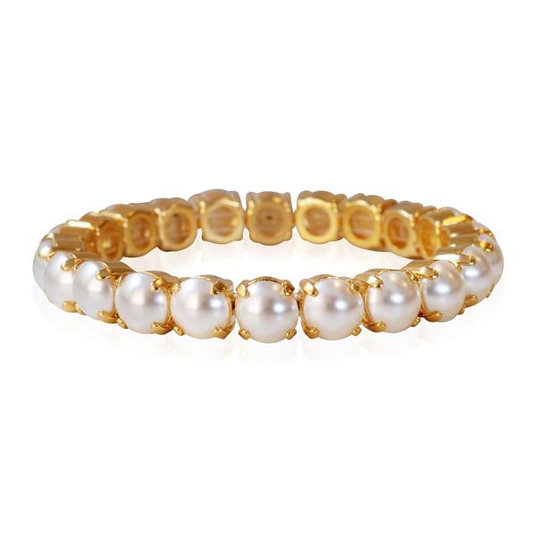 Gia Stretch Bracelet / Pearl Gold