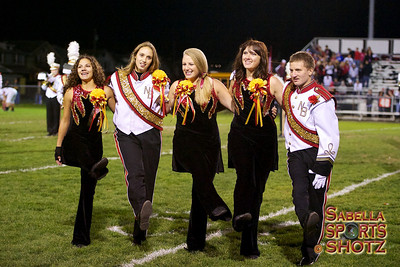 10.26.12 - NBHS Marching Lion Pride - Halftime & Senior Night Ceremony