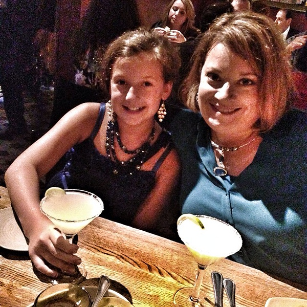 Margaritas and Mexican with my ladies!