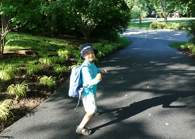 Walking to camp bus July 2014