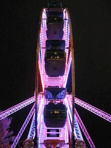 Giant Sky Wheel at night.