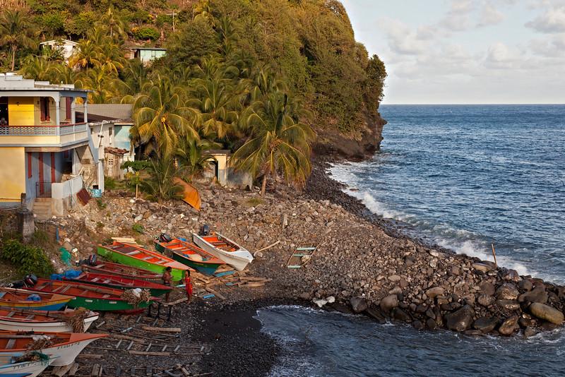 Small  fishing village near the Zandoli Inn, Fond St. Jean.