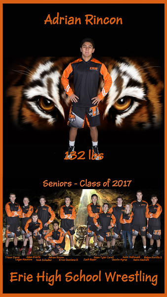 2017 Erie Wrestling Individual Banners