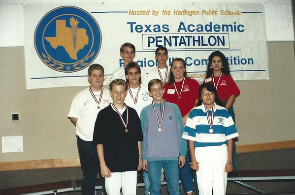 1992 Middle School Pentathalon Teams