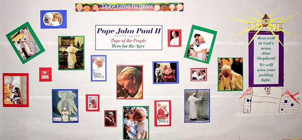 Pope John Paul II Memorial by Faith Formation