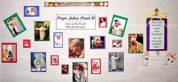 Pope John Paul II Memorial by Faith Formation