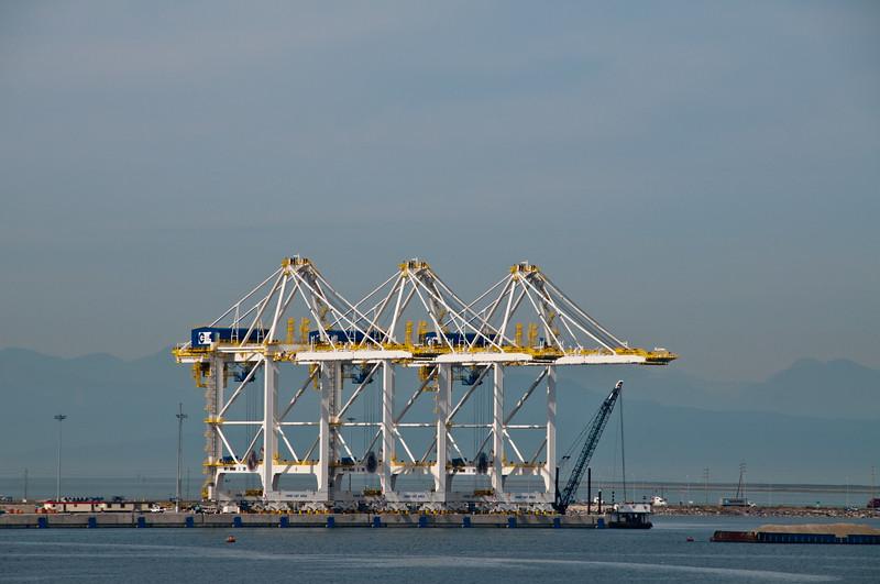 More cargo cranes.