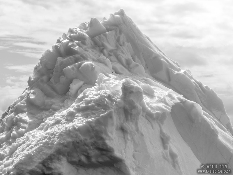 Ice Mountain  Black and White Photography by Wayne Heim