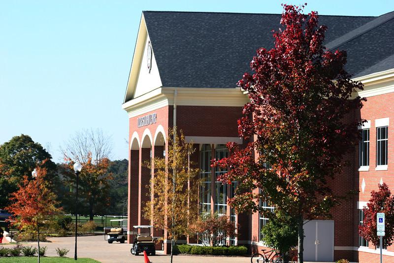 Tucker Student Center on a Fall morning at Gardner-Webb University.