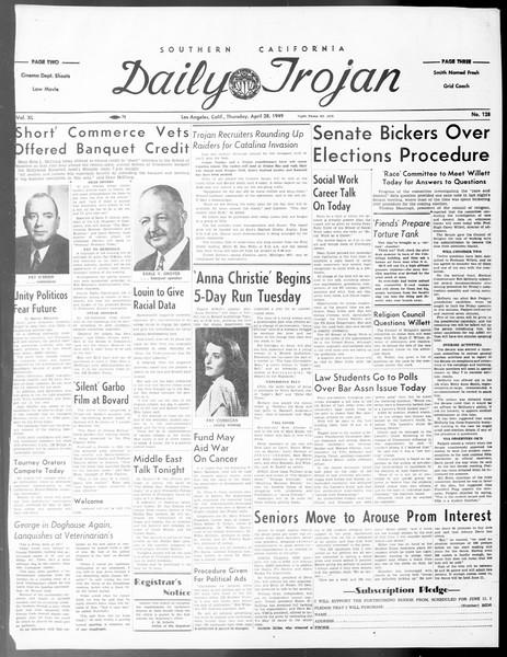 Daily Trojan, Vol. 40, No. 128, April 28, 1949