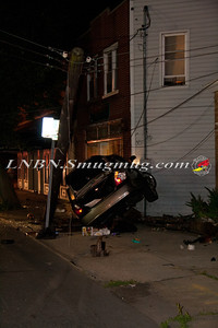 Amityville F.D. Car vs Pole & Building 140 Broadway 6-18-13