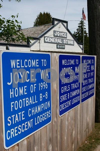 The town of Joyce, WA.