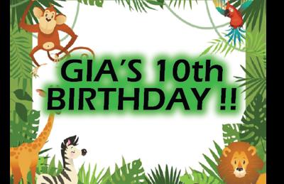Gia's 10th Birthday Party