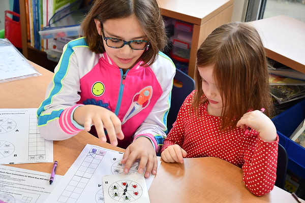 Fourth Graders Bring Fun and Games to Kindergarten Math