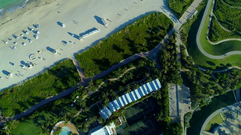 Aerial tilt up reveal Atlantic Ocean 4k 24p