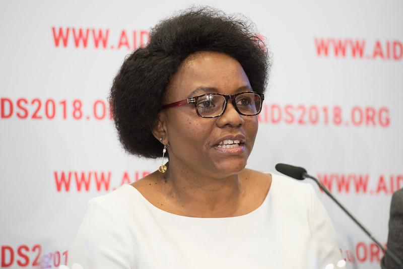 22nd International AIDS Conference (AIDS 2018) Amsterdam, Netherlands   Copyright: Marcus Rose/IAS  Photo shows: Press Conference: Sub-Saharan Africa: New Insights, New Impact. Velephi Okello Deputy Director Clinical Services at Ministry of Health Eswatini