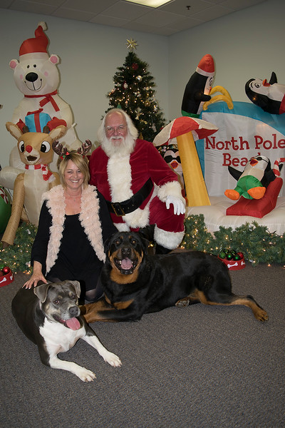 Santa and Pups