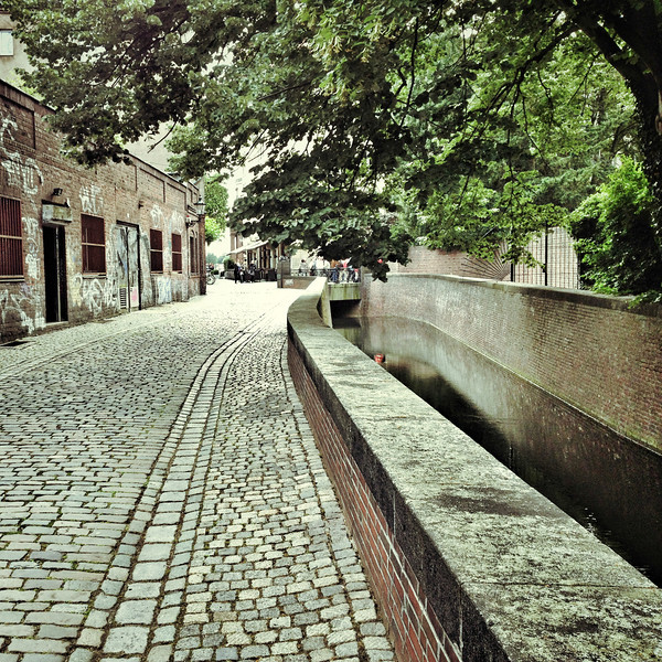 Close to the little canal in Dusseldorf