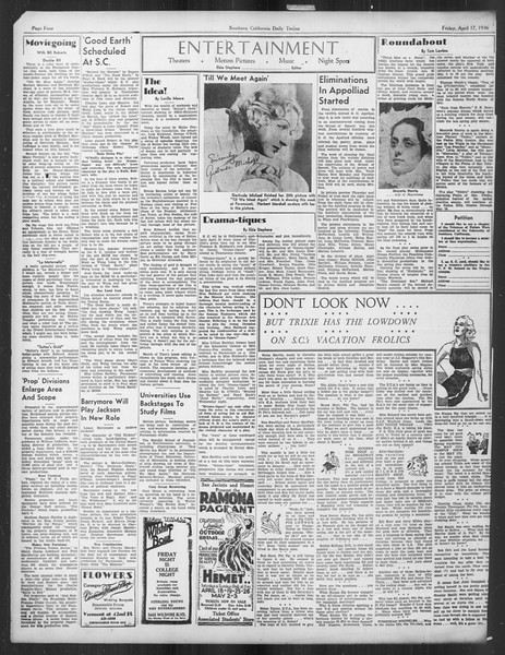 Daily Trojan, Vol. 27, No. 117, April 17, 1936