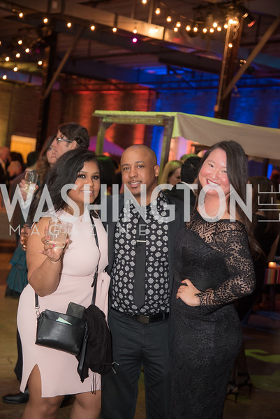 Juliana Berde, Kendrick Dandridge, Tiffany Chen, The Phillips Collection, Annual Gala Afterparty, Contemporaries Bash, Union Market Dock 5. May 10, 2019, Photo by Ben Droz.