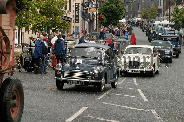 A selection of Vintage cars and tractors on show at Markethill fair day, 07W35N66