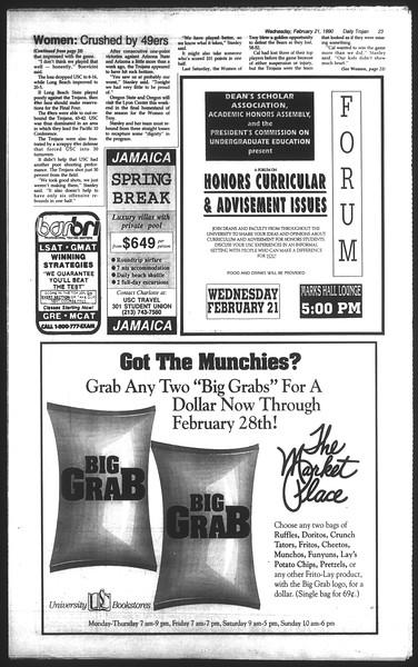 Daily Trojan, Vol. 111, No. 27, February 21, 1990