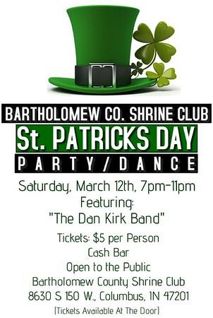 2016 March - Bartholomew Shrine Club St. Patricks Day