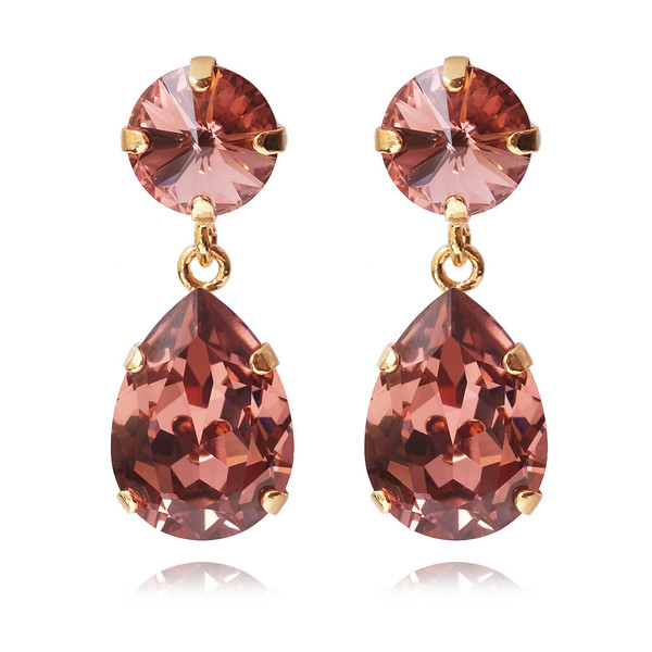 Classic Drop Earrings / Rose Blush / Gold