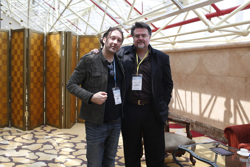 With Shanghai Tower's architect and friend, Marshall Strabala, 2013
